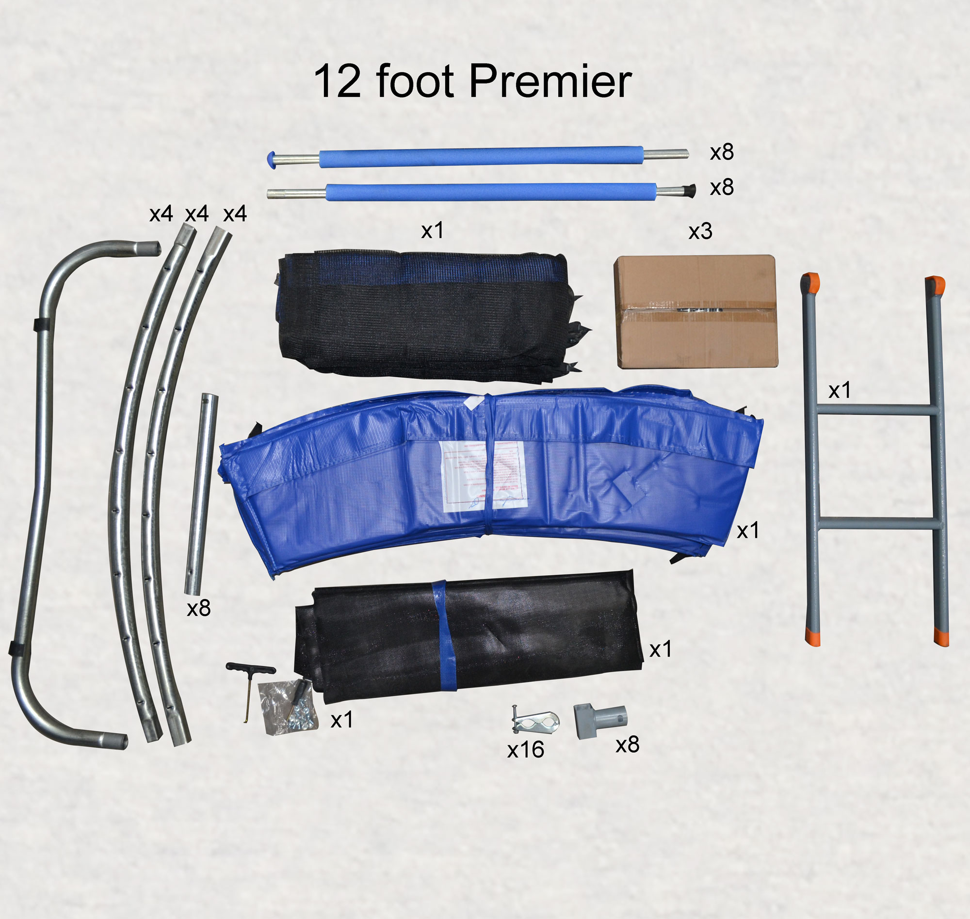 12ft Premier Trampoline Box Contents